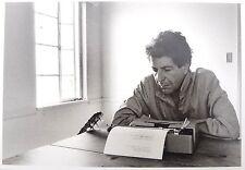 VTG 1982 BLACK & WHITE Leonard Cohen DOMINIQUE ISSERMANN Greece POSTCARD 4X6 NOS
