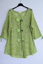 LAGENLOOK TUNIC QUIRKY CAFTAN MESH JACKET CARDIGAN CHUNKY BUTTONS BOHO CHIC 14