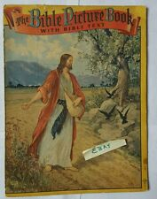 The Bible Picture Book with Text 2924 Copyright 1941 SAALFIELD PUB CO OHIO HS