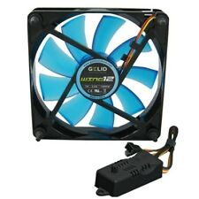 VENTOLA per CASE PC 120mm GELID WING 12 BLU FAN 120 120 x 25 UV + RPM CONTROLLER