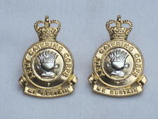 Army Catering Corps,1973-1992 Collar Badges,Anodised Aluminium Staybright