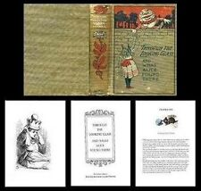 Handcrafted Illustrated Book Through The Looking Glass 1:12 Dollhouse Miniatures