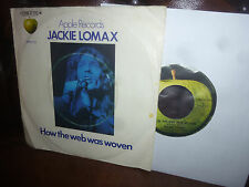 """Jackie Lomax, How the web was woven, German Apple 23 1C006-91 115 Single 7"""" 1970"""