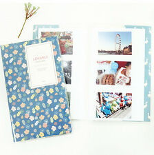 GMZ Photo Album for Fujifilm INSTAX MINI 50s 7 8s 90 instant film -BLUE FLOWER