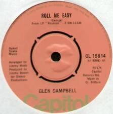 """[JIMMY WEBB] GLEN CAMPBELL ~ ROLL ME EASY / IT'S A SIN ~ 1974 UK 7"""" SINGLE"""