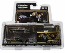 1:64 GreenLight *HITCH & TOW* SMOKEY & THE BANDIT  Silverado Trans Am & Enclosed