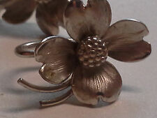 Sterling Silver Dogwood Flower Vintage Screw back Earrings - Harry S Bick ?