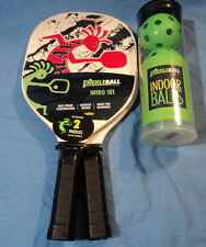 Galaxy Pickleball Now Intro Set 2 Paddles 3 Indoor Balls Pickle Ball Racquet New