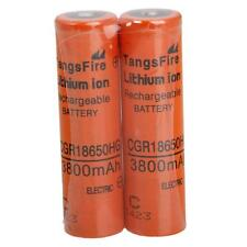 2pcs New CGR 18650 3.7V 3800mAH Li-ion Rechargeable Battery for Camera Torch Toy