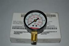 "One new 100 PSI 2"" gauge 1/4"" NPT 5WZ19"