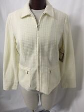 Coldwater Creek Ivory Textured Boucle Lined Women's Jacket Sz 8 New! $70