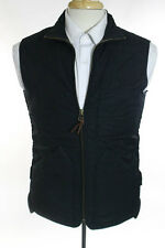 J Crew Black Cotton Quilted Zip Front Vest Size Extra Small