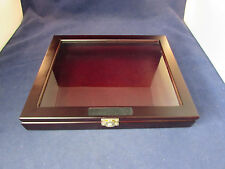"Shadow Box Display Case Frame Collectible Curio Hanging box 12"" X 10"" X 1 5/8"""