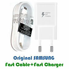CARGADOR RAPIDO DE MOVIL + CABLE DE DATOS PARA SAMSUNG GALAXY S6 100% ORIGINAL