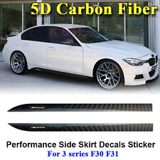 M Performance Side Skirt Stripe 5D Carbon Fiber Sticker for BMW 3 Series F30 F31
