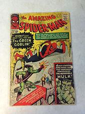 AMAZING SPIDER-MAN #14 KEY ISSUE, 1ST GREEN GOBLIN,, 1964, HULK, STAN LEE, DITKO