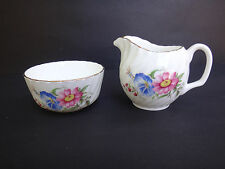 Vintage Mayfair Bone China Cream Pitcher Open Sugar Bowl Floral England Creamer