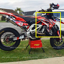 radiator shroud decals (left and right side) fits aprilia mxv 450 supermoto