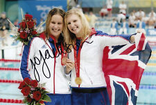 JOANNE JACKSON HAND SIGNED GREAT BRITAIN 6X4 PHOTO BEIJING 2008.