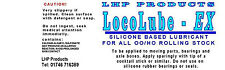 LHP SILICONE BASED OIL FOR ALL OO HO LOCO &  ROLLING STOCK  LHP HD500