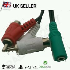 Female rca audio splitter câble pour TURTLE BEACH ® gaming headsets-plaqué or,