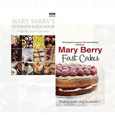Mary Berry's Ultimate Cake Book,Fast Cakes Recipes Baking 2 Cook books Set New