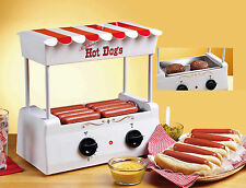 HOT DOG ROLLER GRILL ~ BURGER & SAUSAGE COOKER MACHINE WITH BUN WARMER ~ HDR-565