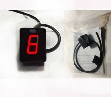 Motorcycle Universal Gear Indicator Red display 6-speed