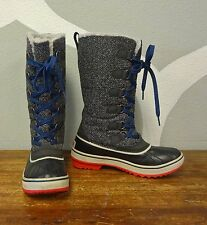 SOREL 6.5 Gray Herringbone TIVOLI HIGH Waterproof Winter Snow Boots - Women's