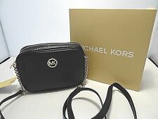 MICHAEL KORS FULTON SMALL CROSS BODY BLACK PEBBLED LEATHER MSRP 158 GIFT READY!