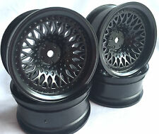Rc Car 1/10 Drift FM Spoke Rim Wheel 9mm Offset fit Tamiya HPI 12mm hex BLACK 4
