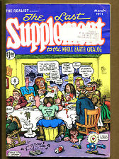 """Last Supplement To The Whole Earth"" Catalog #1 VG+ R. Crumb - Underground Comic"