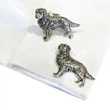Silver Pewter Golden Retriever Cufflinks Handmade in England Cuff Links New