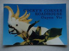 COCKY'S CORNER ROADHOUSE OUYEN VIC COCKATOO POSTCARD