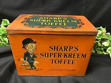 Rare Vintage English Sharp's Super - Kreem Toffee Orange Parrot Sweet Tin