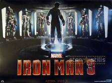 "IRON MAN 3 ORIGINAL Double Sided MOVIE FILM POSTER 30x40"" Quad Robert Downey Jr"