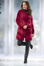 Mantel Wolle / Kaschmir Winter Warm Wintermantel Jacke Winterjack rot Gr. 42