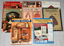 Lot of 8 Craft Books Patterns Christmas Garden Bears Country Rabbits Winter