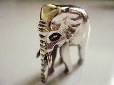 11 grams Sterling Silver Miniature Lucky Elephant Figure Ornament Vintage style