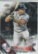 Gary Sanchez 2016 Topps Chrome Rookie Card #143 New York Yankees  RC