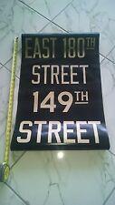 VINTAGE NYC SUBWAY RARE IRT R15 DESTINATION ROLL SIGN EAST 180TH 149TH STREET