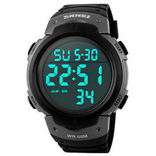 SKMEI 1068 Unisex LED Digital Alarm Waterproof Military Sport Watch