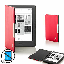 Cuoio rosso Smart Shell Case Cover per Kobo Glo eReader HD + Screen Prot. Stylus