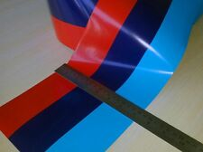 11 feet printed BMW M color stripes Rally Racing Motorsport vinyl decal sticker