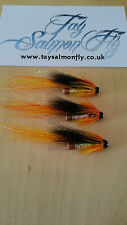 "3x Cascade 1"" Copper Tube Salmon Fishing Flies FREE POSTAGE"