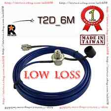 RETECH T2D-6M Car Mobile  COAXIAL CABLE ASSEMBLIES SO239 PL259 for Antenna Mount