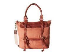 New Bed Stu Free People Cascade Canvas Leather Messenger Weekender Tote Bag