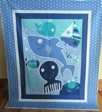 "1 Darling ""Seawater Friends"" Cotton Fabric Quilting/Wallhanging Panel"