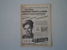 advertising Pubblicità 1957 DENTIFRICIO COLGATE