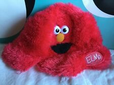 Sesame Street Elmo Furry Fuzzy Childs Hat One Size Fits Most 3D Eyes Plush